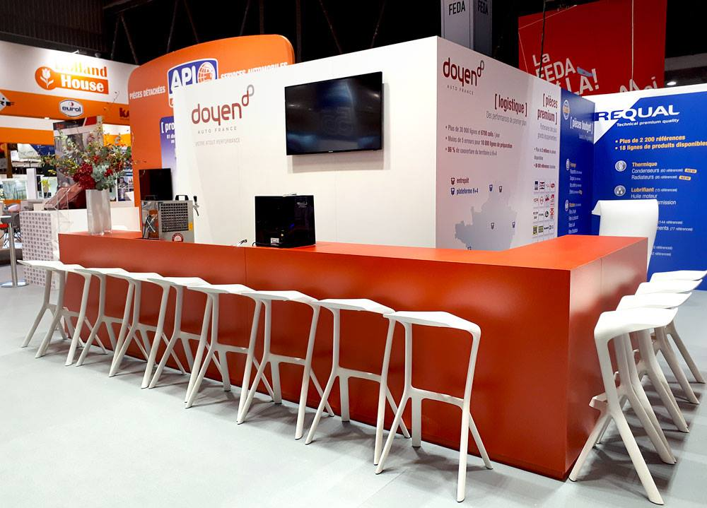 habillage stand création Equipauto
