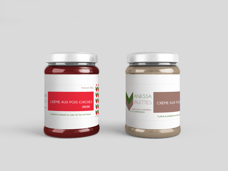 réalisation design d'étiquettes pour agroalimentaire