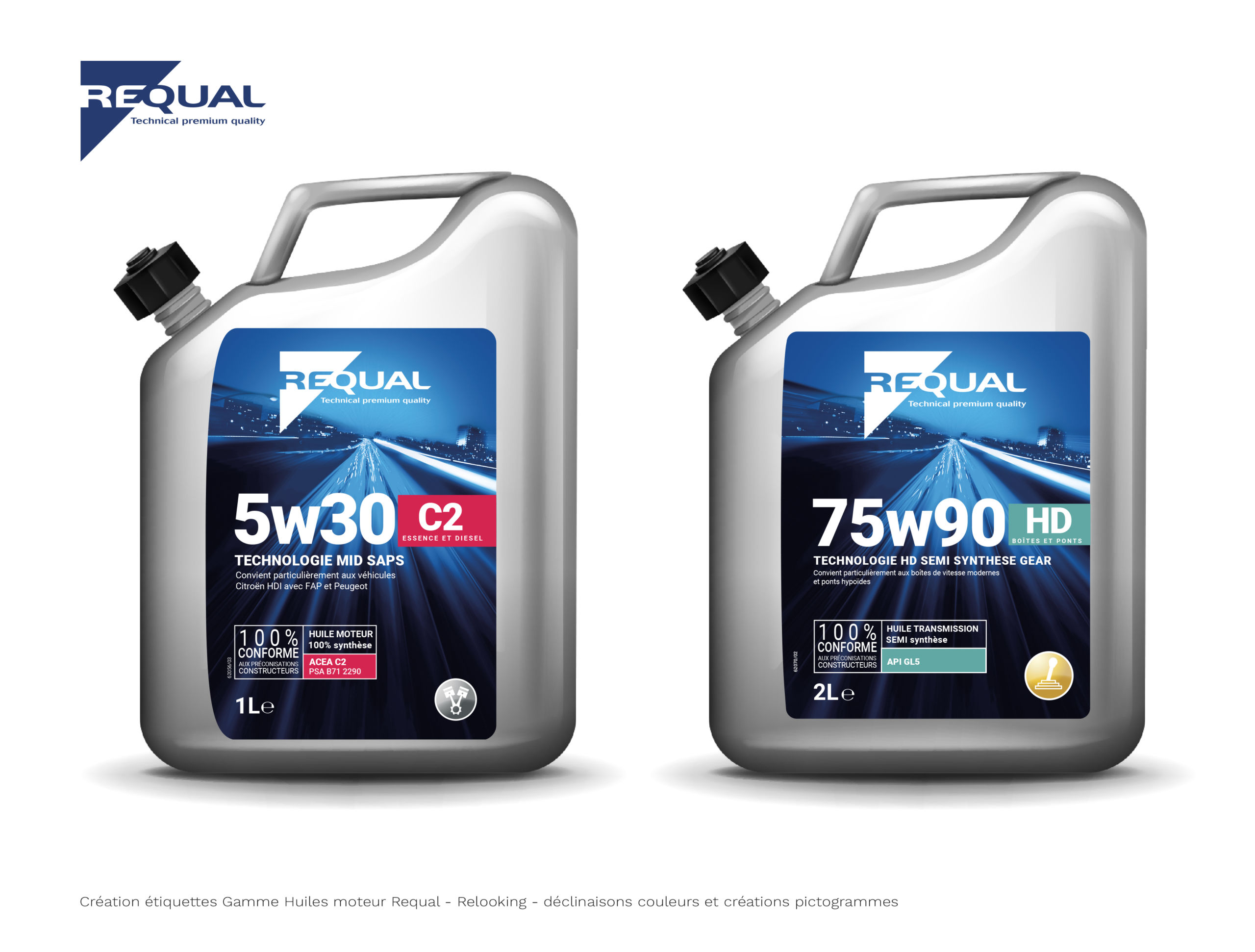 étiquette huile moteur