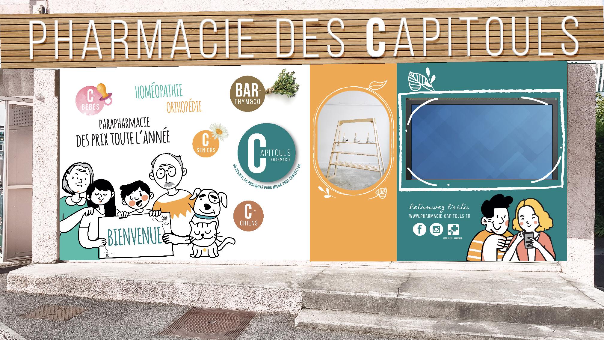 nouvelle façade pharmacie Capitouls