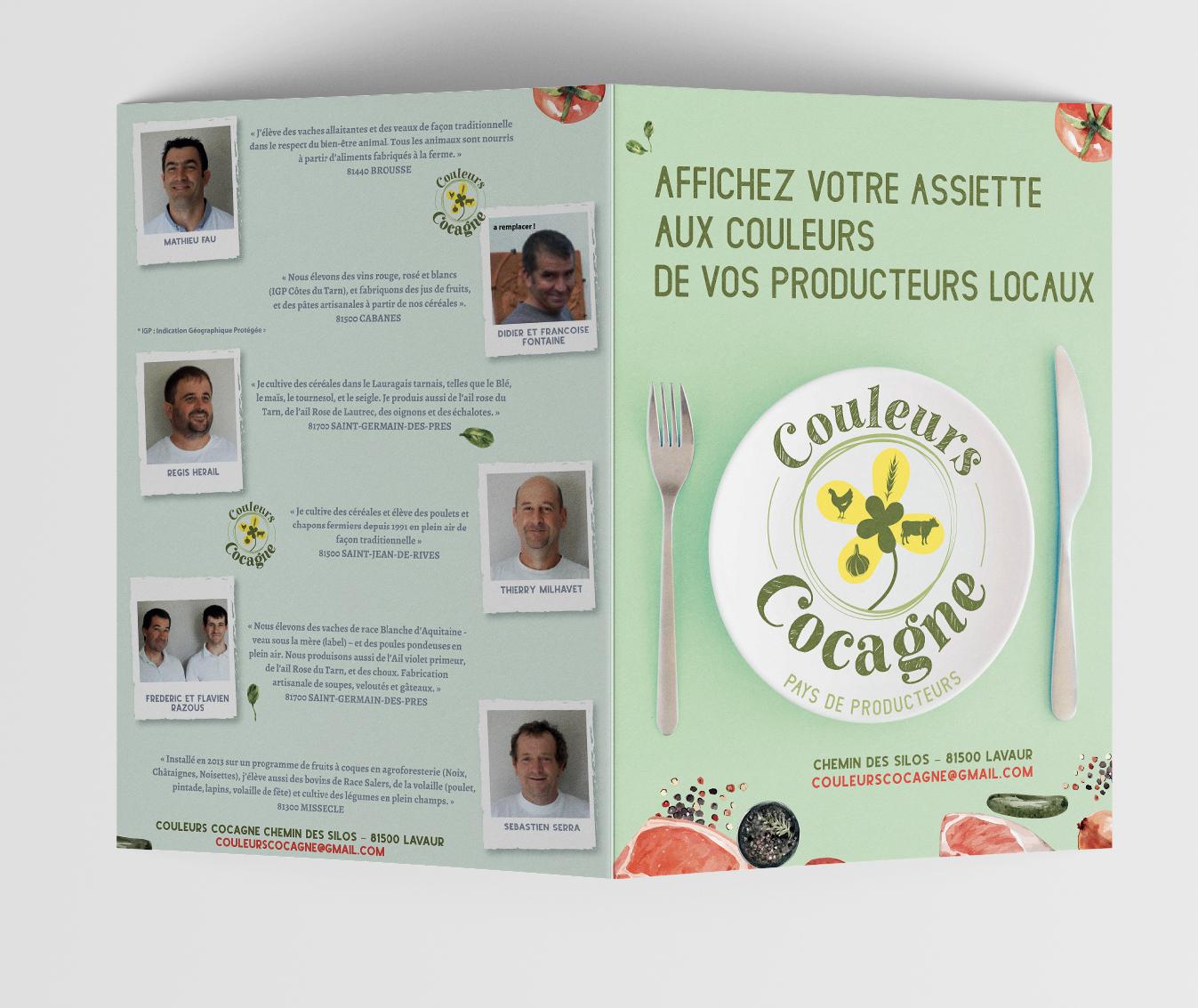 leaflet couleurs cocagne