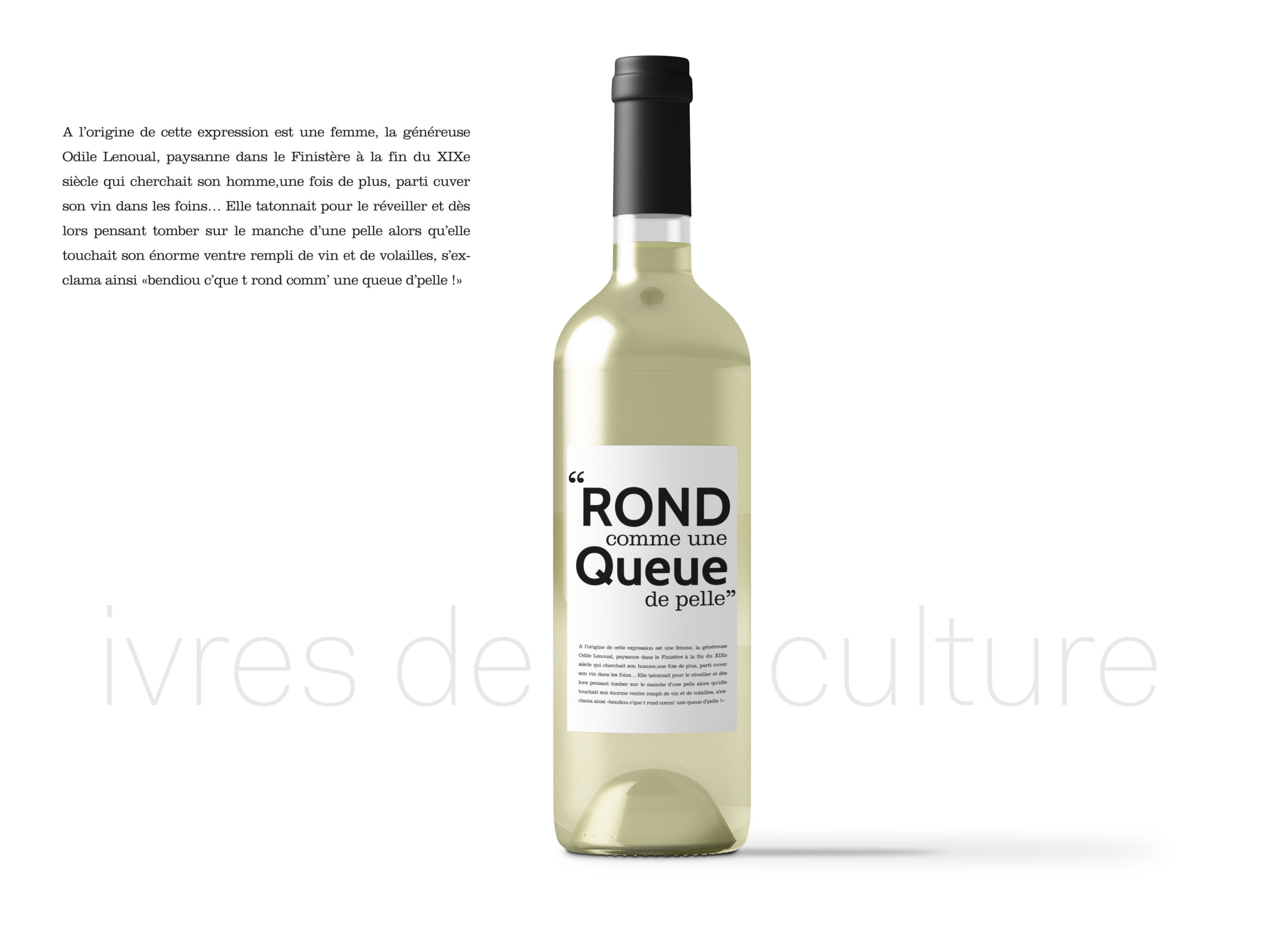 création originale etiquette de vin humour