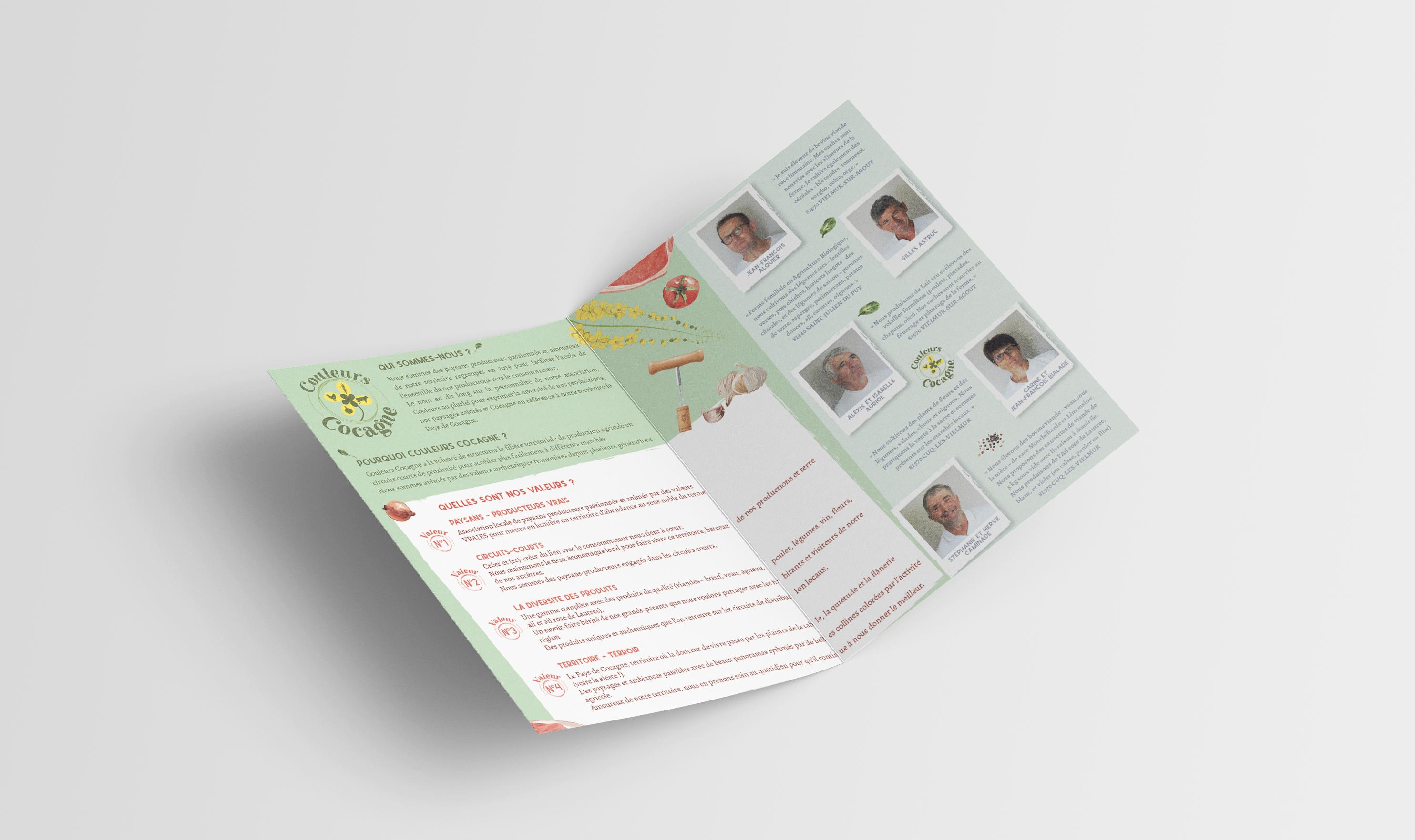 leaflet couleurs cocagne verso