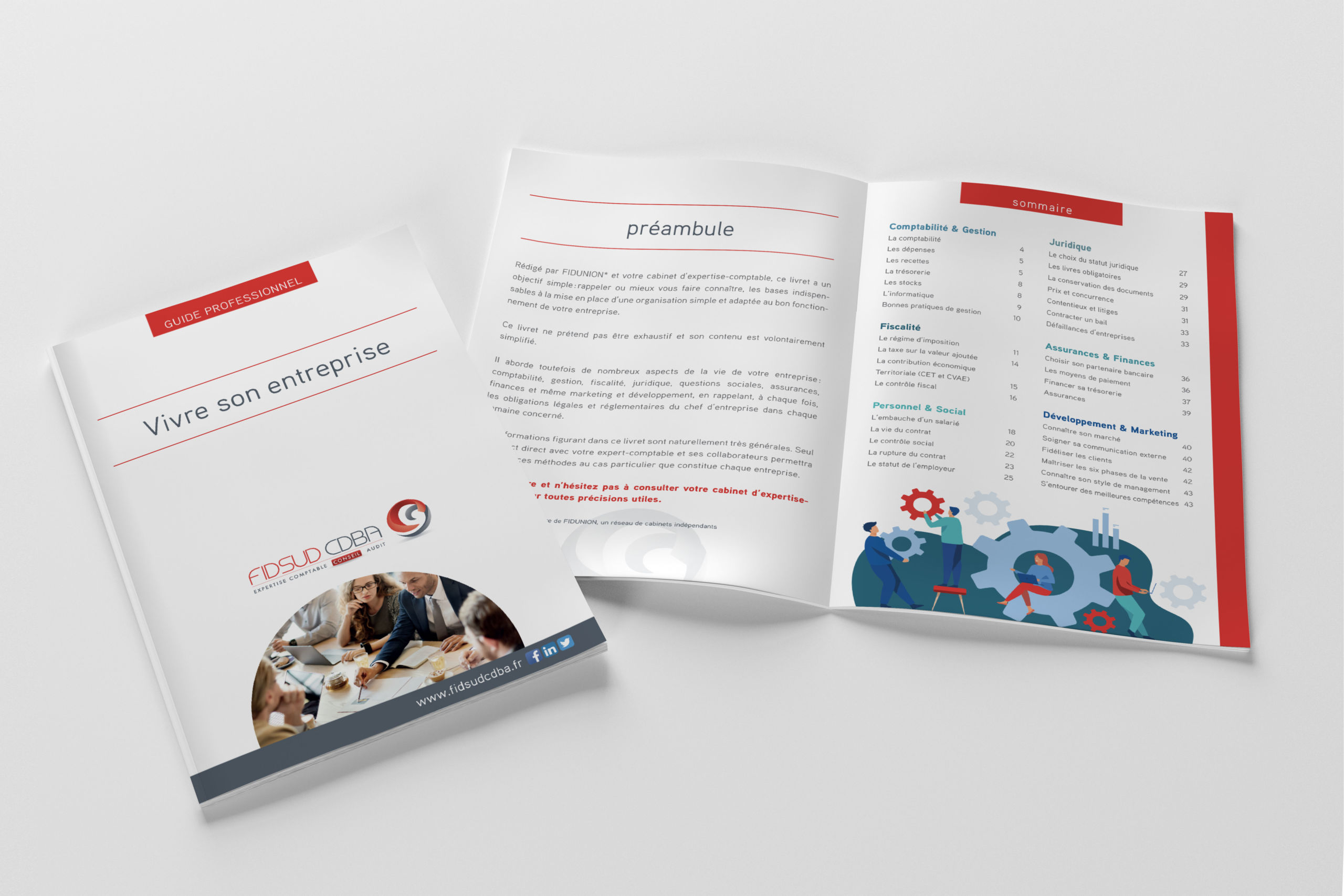 couverture et double page guide entreprise