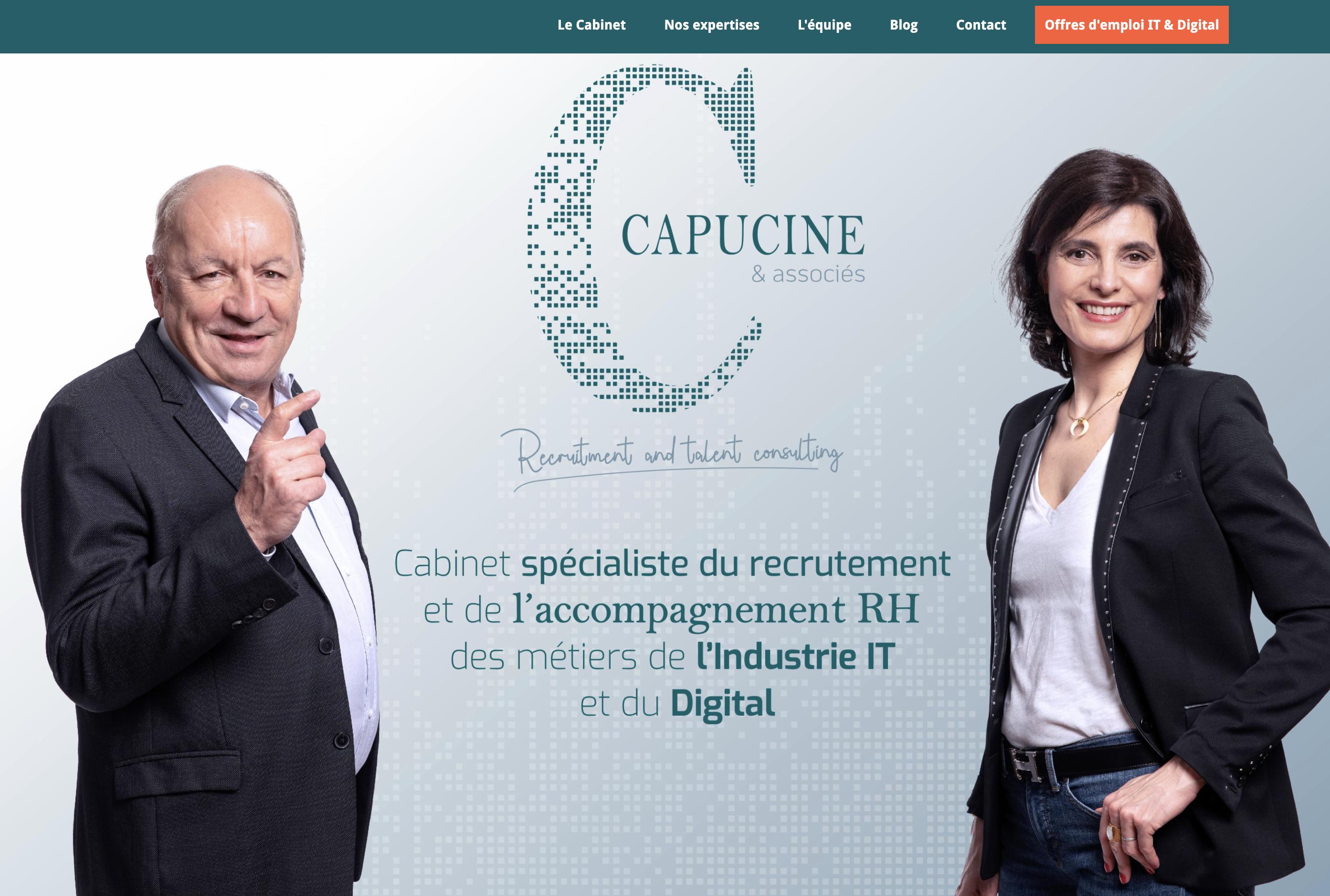 home page site internet capucine et associés